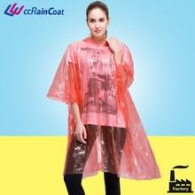 Disposable Plastic Raincoat/Plastic Rain Coat/Plastic Poncho