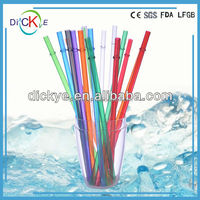 PVC/PP colored reusable hard plastic drinking straw for cold beverage