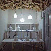 Beautiful decorative product pure white GLASS bottle shape suspended light