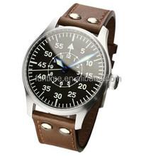 Super luminous miyota automatic watch, pilot design