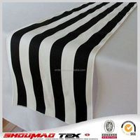 Newest durable black and white striped table runner