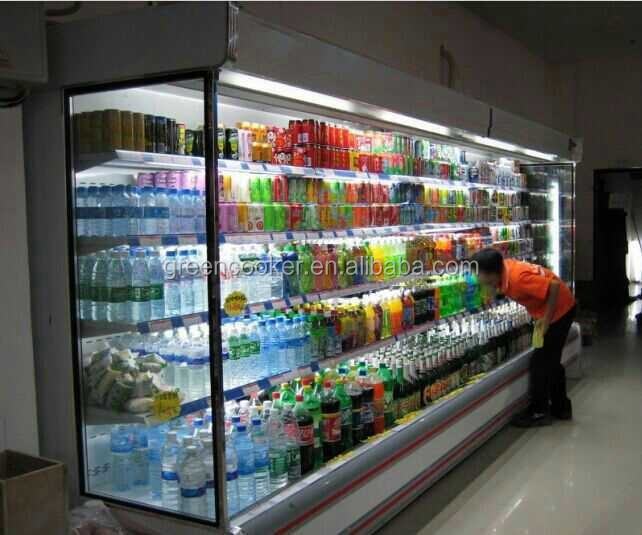 Hot vente supermarch affichage de fruits r frig rateur l gumes vitrine r frig r e picerie - Supermarche ouvert autour de moi ...