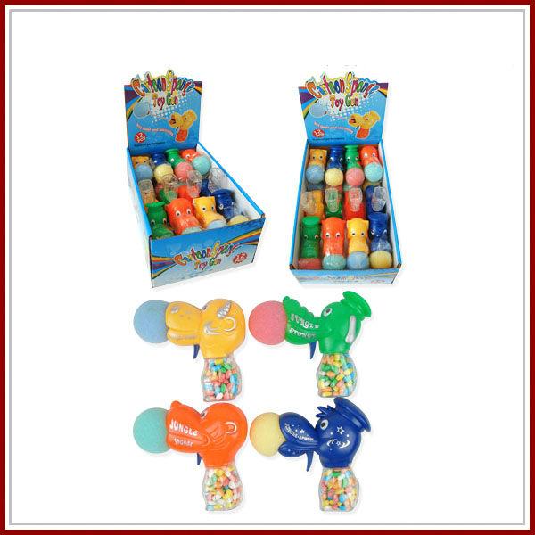 الحيوانات (بطة / كتكوت / الكلب) الكرتون مسدس لعبة الإسفنج لعبة حلوى