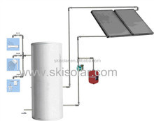 2015factory direct OEM split solar thermal flat plate home systems with double Heat Exchangers;thermostats