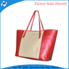 red PU leather convenient bag handle carry bag in shopping bag hot sale