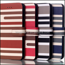 hot selling mixing striped leather phone case pu leather case for iphone 6