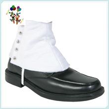 Fancy Dress Gangster White Shoe Leather Spats HPC-3011