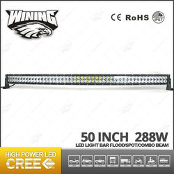 Car Accessories 4x4 led light bar Off road , High Power Best Price 288w Curved led light bar