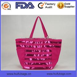 High Quality Ladies Beach Tote Bag waterproof canva sequin beach tote bag for ladies