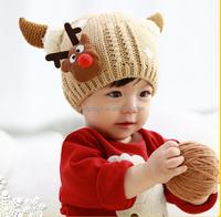 Winter Children Knitted Warm Wool Cap Baby Hats