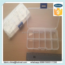 plastic tool box / Jewelry box plastic tool box /Wholesale stocked plastic round clear storage box with dividers
