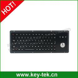Universal industrial keyboard with function keys and integrated trackball