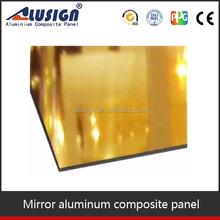 Alusign gold mirror composite panel acp aluminium bond