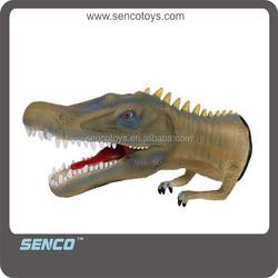 2015 new soft rubber dinosaur hand puppet toys for kids