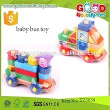 Divertido multifunción intelecto lindo bloque de construcción de juguete juguetes educativos del bebé de juguete autobús