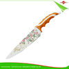 ZY-B3010A1 finely processed 8-inch flower printed non-stick chef knife with PP&TPR handle
