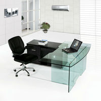 tempered glass desks,cheap glass computer desk,high end glass desk MR-DB029