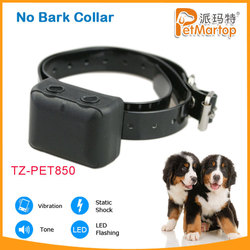 2015 TZ-PET 850 pet safety no-barking collar for dogs training no bark shock collars