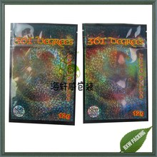 potpourri herbal incense bags 12g with glitter printing for chems packing