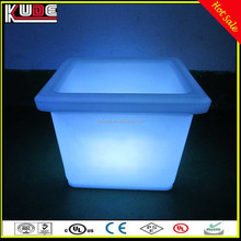 Wholesale Indoor Square Planter Pot, Waterproof Lighted Outdoor PE Material LED Flower Pot With RGB Lighting