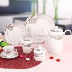 24 piece ceramic dinner set, silver dinner sets, light weight dinner set