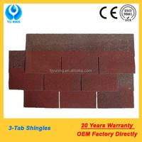 3 tab asphalt shingle