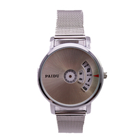 1pc china post paidu brand women's hot sale Steel grid Alloy metal band watch