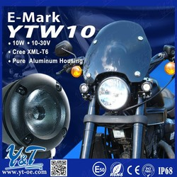 Y&T Latest design LED working lights, motorcycle parts accessories, high power motorcycle led driving lights for honda
