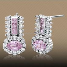 Fancy Cheap Design Pink / Olive / Garnet / Sapphire Earrings