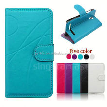 Simple stripe cell phone case design flip leather cover for Huawei Y500