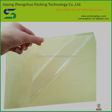 Chinese warm welcomed self adhesive transparent pet sheet