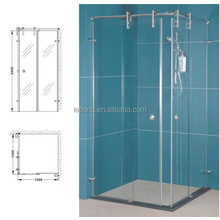 N116 Hot Sale Sliding Glass Shower Door, Straight Tempered Sliding Glass Door Handle
