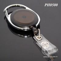 Retractable Metal Plastic Badge Key Chain Reel