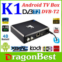 K1-4AT2 DVB-T2 PVR Android TV BOX Amlogic S805 1G/8G WiFi Smart IPTV Tuner full hd 1080p porn video android tv box