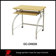 Best selling metal frame malaysia computer table on wheels