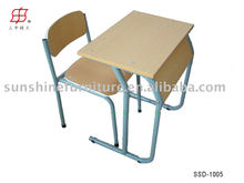 Hot chair! Melamine board School Desk and Chair/cheap school desk and chair