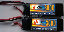 factory price 35C 3s 11.1v 3000mah rc helicopter lipo battery for R/C Model