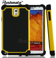 Accessories For Samsung Galaxy Note3 N9000 Black Yellow Phone Case PC Silicone Hybrid Covers