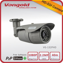 Outdoor bullet HD-SDI camera with IP66 waterproof support WDR, 3D-DNR, IR-CUT