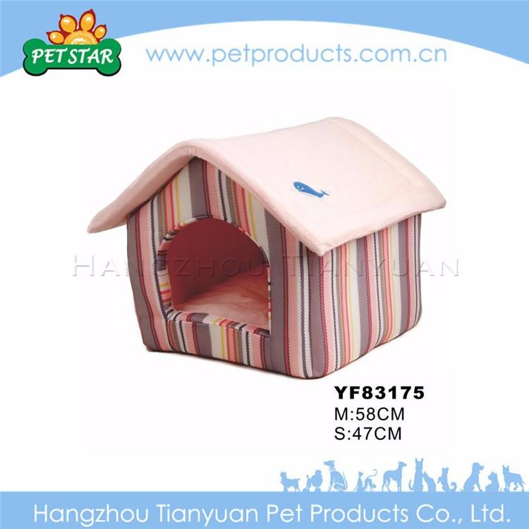 Bone Decoration Indoor Soft Fabric Dog House for Sale