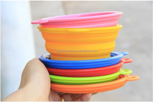Factory direct sale on alibaba silicone pet bowl, collapsible dog bowl