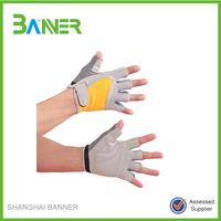 China Factory Cheap Made fingerless neoprene cycling gloves white