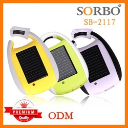 SORBO CE Certificated Wholesale Universal Power Bank Charger Solar Phone Charger/Portable Cell Phone Charger with LED Flashlight