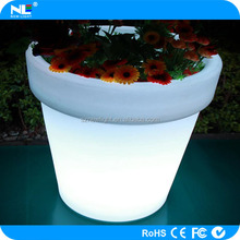 environment friendly shining and colorful flower vase / LED crystal and shine flower pot d planter vase