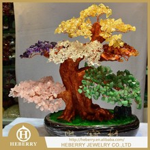 new fashion quartz stone crystal sculpture tree shape
