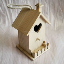 Small Unfinished Pine Wood Bird House