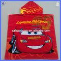 100% algodón reactiva impresa toalla de playa con capucha para niños
