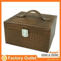 discount customized logo made in china pu leather make up box flight case