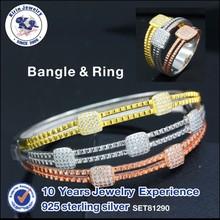 Fashion jewelry bangle silver rings china jewelry wholesale