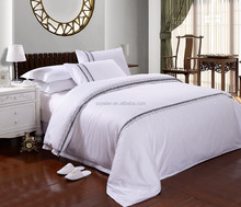 luxury hotel bedsheets embroidered/embroidered duvet cover